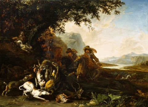 Abraham Hondius - Auf Bärenjagd