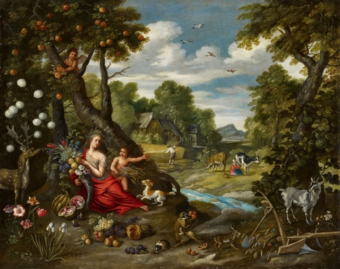 Jan Brueghel the Younger - Summer Landscape with Ceres