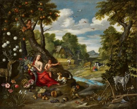Jan Brueghel d. J. - Sommerliche Landschaft mit Ceres
