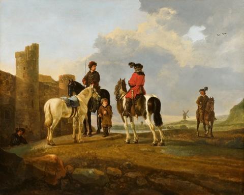 Aelbert Cuyp - Rastende Reiter vor Burg Ubbergen