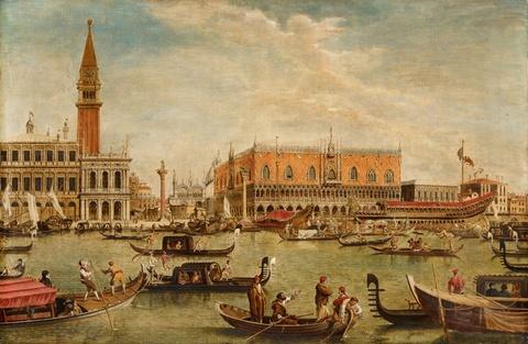 Italienischer Meister um 1800 - Vedute von Venedig mit dem Bucintoro am Himmelfahrtstag