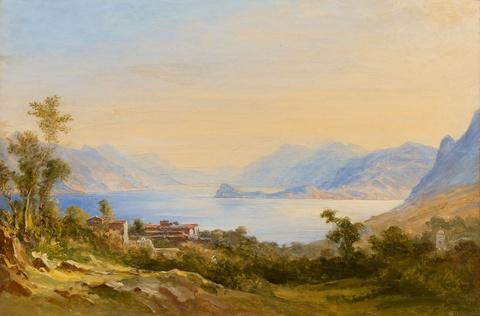 Carl Morgenstern - View of Lake Como and Bellagio
