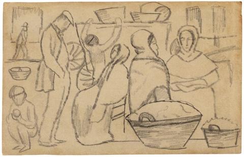 August Macke - Auf dem Markt I