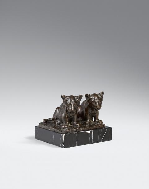 August Gaul - Zwei kleine Löwen