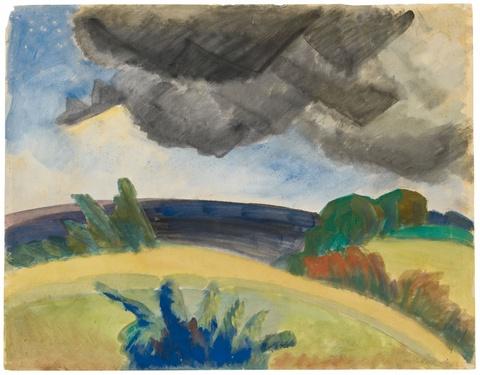Erich Heckel - Dunkle Wolken
