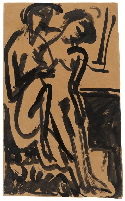 Ernst Ludwig Kirchner - Zwei nackte Mädchen