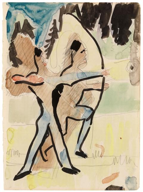 Ernst Ludwig Kirchner - Bogenschützen auf dem Wildboden