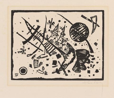 Wassily Kandinsky - Holzschnitt für die Ganymed-Mappe