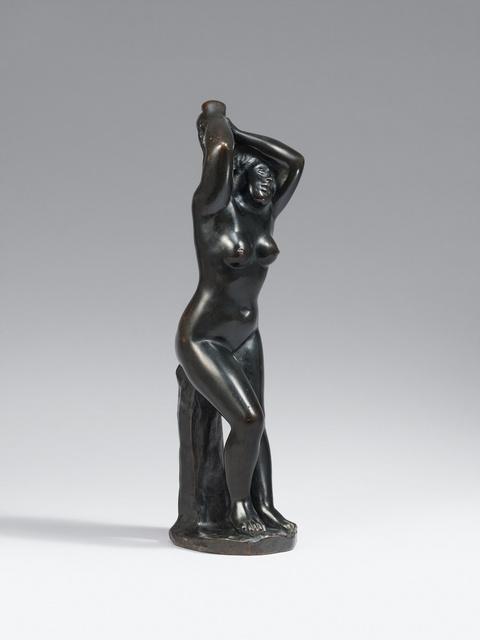 Aristide Maillol - Baigneuse se coiffant (Femme les deux mains aux cheveux)