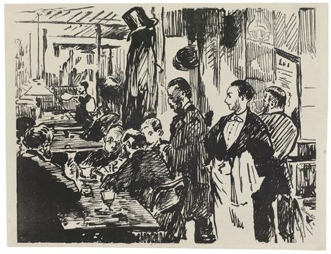 Édouard Manet - Le Café (Deuxième planche)