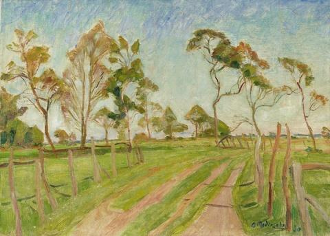 Otto Modersohn - Wiesenweg im Frühjahr