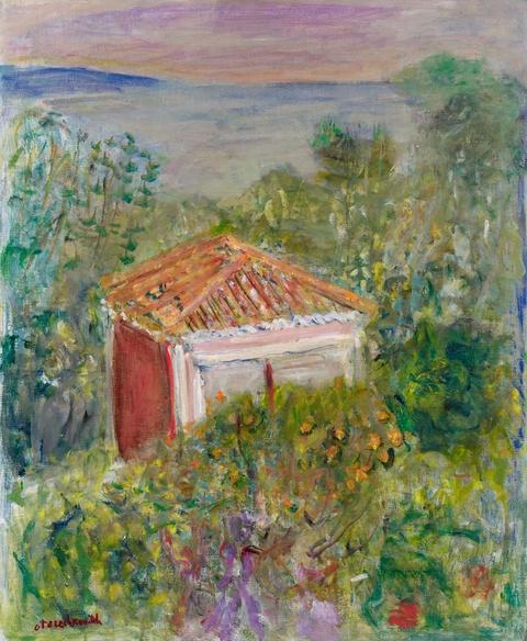 Constantin Terechkovitch - Vue de l'Atelier à Roquebrune