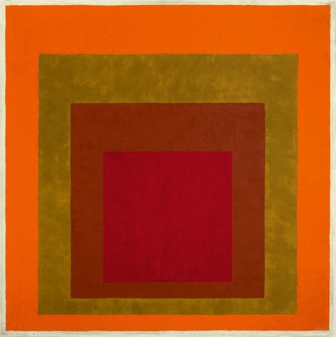 Josef Albers - Study to Homage to the Square: Warm Welcom