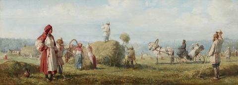 Wilhelm Amandus Beer - Heuernte in Russland