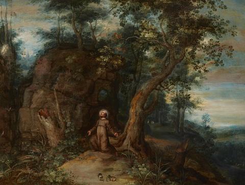 Jan Brueghel d. J., Umkreis - Der Heilige Franziskus in der Wildnis