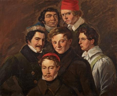 Deutscher Künstler der 1. Hälfte des 19. Jahrhunderts - Gruppenportrait