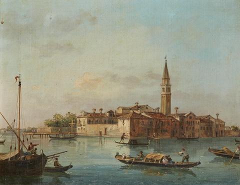 Italienischer Künstler des 19. Jahrhunderts - Zwei Ansichten aus Venedig
