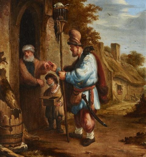 Netherlandish School 2nd half 17th century - The Rat Poison Seller