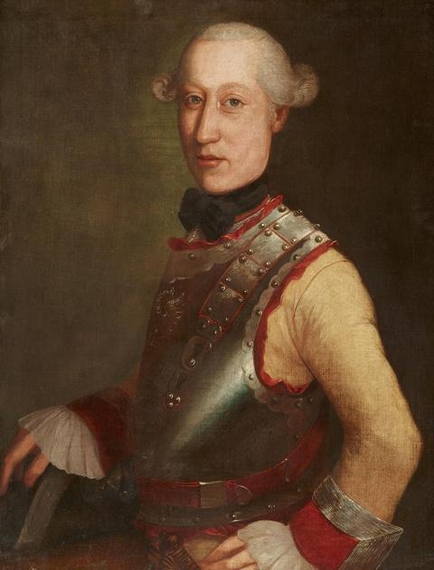 Österreichischer Meister des 18. Jahrhunderts - Bildnis eines Herrn mit Harnisch