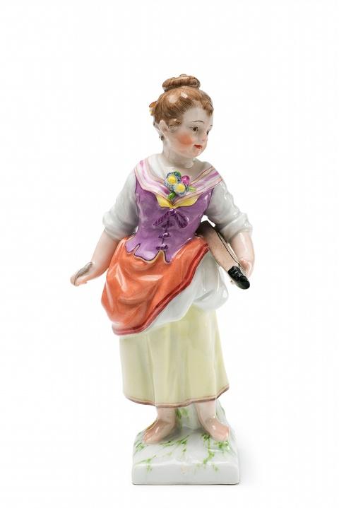 Mädchen mit Zupfinstrument -