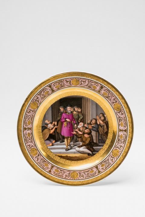 Teller mit Gemäldedekor -