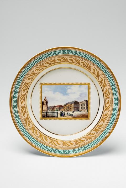 Teller mit Ansicht Kronprinzenpalais -