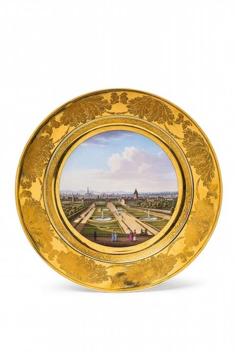 Seltener Teller mit Ansicht von Wien -