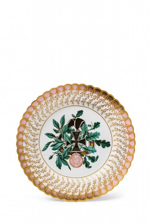 Dessertteller aus dem Feldherrenservice für Prinz Ludwig von Hessen-Homburg -