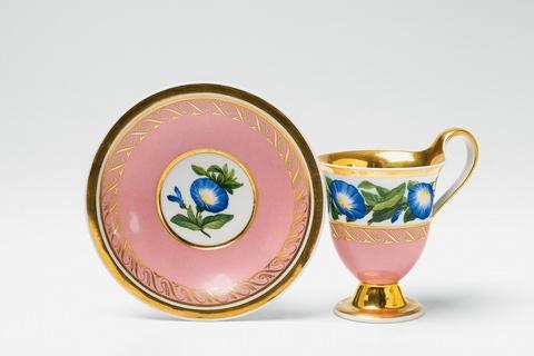 Tasse aus dem Service mit blauen Winden für Schloss Charlottenburg -