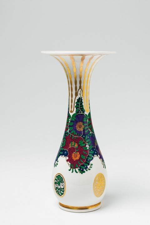 Vase mit Jugendstildekor -