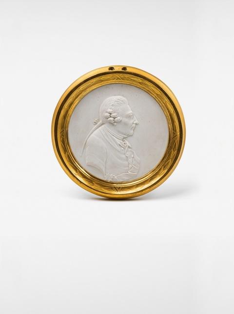 Reliefplakette mit Bildnis Friedrichs II. -