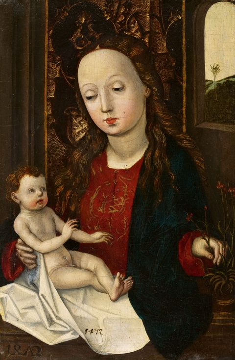 Central Rhine School active around 1470 - The Virgin and Child