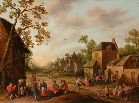 Joost Cornelisz. Droochsloot - A Busy Village Scene