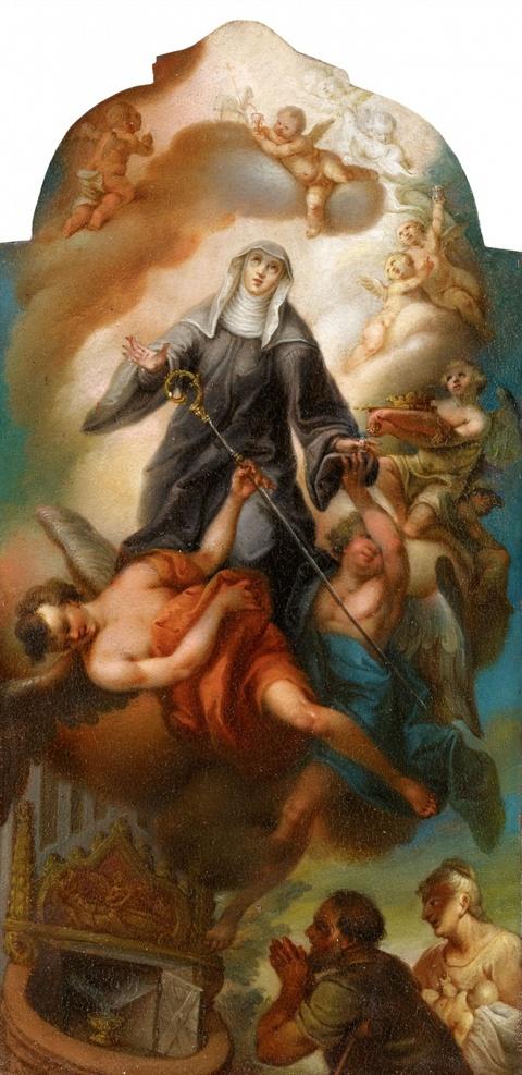 Süddeutscher Meister des 18. Jahrhunderts - Himmelfahrt einer Heiligen