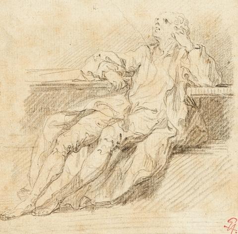 Französischer Meister des 18, Jahrhunderts - Sitzender Gelehrter