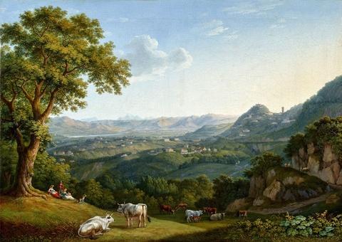 Jacob Philipp Hackert - Blick auf das Arnotal und Fiesole