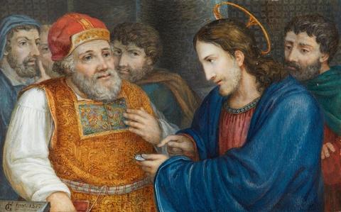 Florian Grospietsch - Christus und die Pharisäer mit dem Zinsgroschen