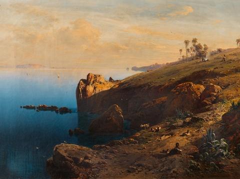Eduard Hildebrandt - Südliche Küstenansicht (Madeira?)