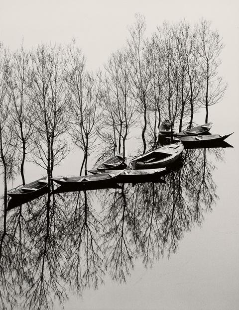 Toni Schneiders - Hochwasser am Skutarisee, Jugoslawien