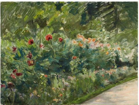 Max Liebermann - Blumenstauden im Nutzgarten nach Südwesten