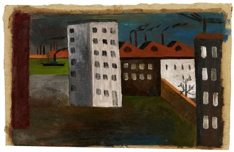 Franz Wilhelm Seiwert - Fabrik und Wohnhäuser am Rhein