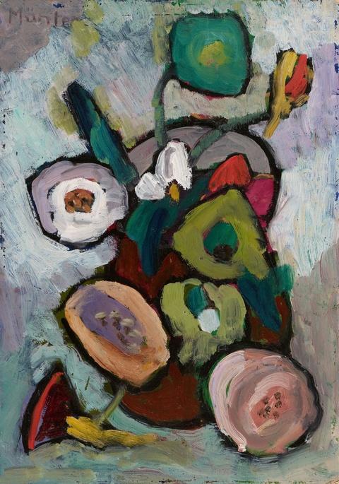 Gabriele Münter - Blumen in braunem Topf
