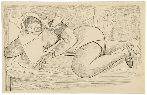 Max Beckmann - Lesende Frau