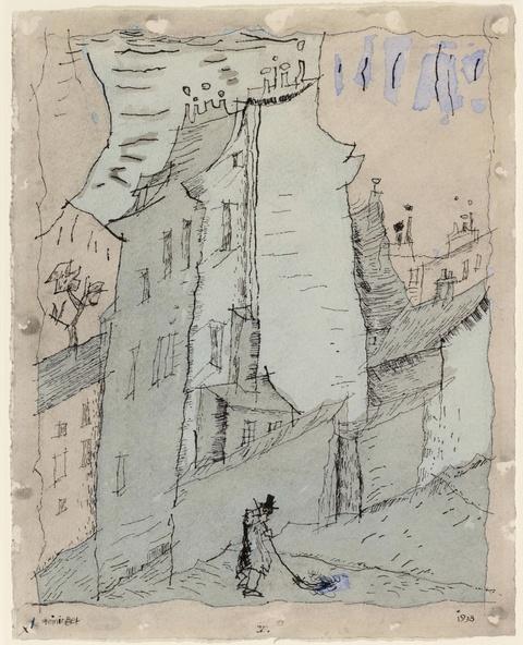 Lyonel Feininger - V. (Street Sweeper in Paris)