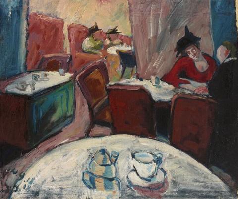 Walter Gramatté - Café