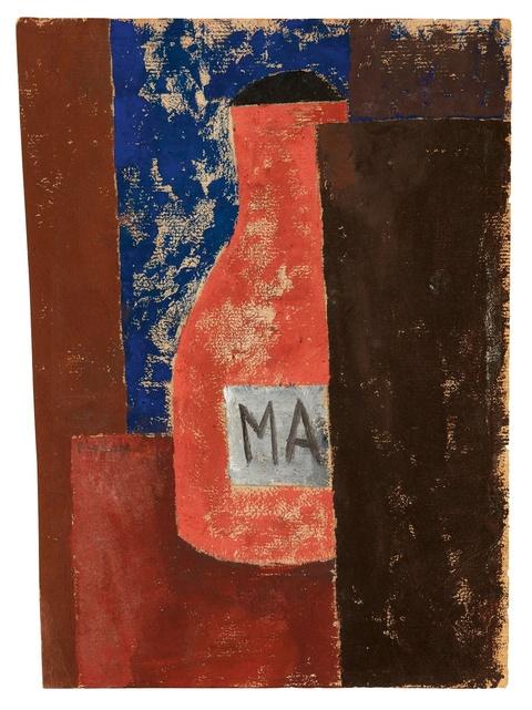 Franz Wilhelm Seiwert - Komposition mit roter Flasche