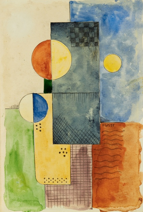Franz Wilhelm Seiwert - Zwei abstrahierte Köpfe