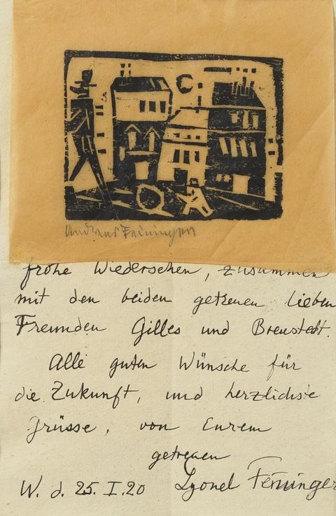 Lyonel Feininger - Brief an Alexandra und Peter Röhl