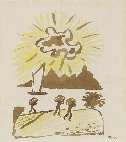 August Macke - Lastträger am Ufer