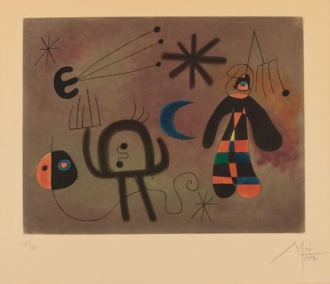 Nach Joan Miró - L'Oiseau fusée